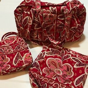 Vera Bradley Diaper, Lunch & Ditty Bags (set of 3)